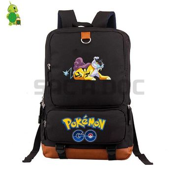 Go Raikou School Bag Women Men Laptop Backpack for Teenage Boys Girls Daily Backpack Large Capacity Travel BagsKawaii Pokemon go  AT_89_9