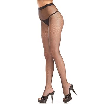 Be Wicked Crotchless Fishnet Pantyhose with Diamond Backseam