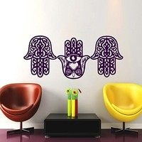 Wall Decals Yoga Fatima Hand Hamsa Indian Buddha Ganesh Decal Lotus Vinyl Sticker Bedroom Decor Home Interior Design Art Mural MN265