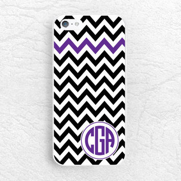Chevron Monogram Phone Case for iPhone 6, Sony z1 z2 z3 compact, LG g2 g3, HTC one m7 m8 Monogram Case - Custom made with personalized name