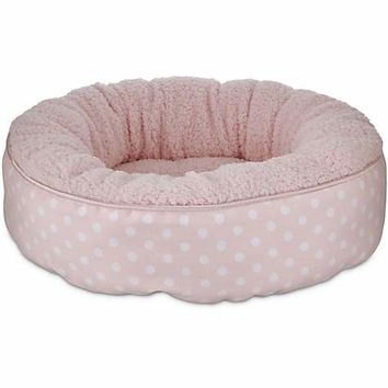 Harmony Green Stripe Cuddler Puppy Bed | Petco