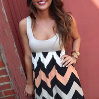 Fall Chevron Tank Dress | The Rage