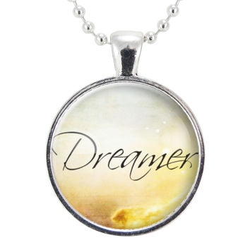 Dreamer Necklace, Inspirational Word Jewelry, Wanderer, Gift Ideas For Free Spirit
