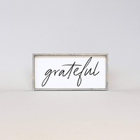 Grateful (Small) | Wood Sign - Multiple Color Options Available