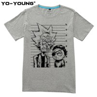 Yo-Young Rick And Morty Bad Evil Rick Men Premium Unisex T-shirts Funny Design Digital Printing 100% Cotton Casual Top Tees Customized
