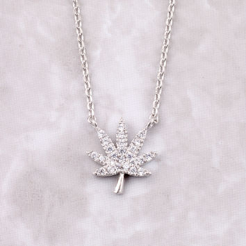 Mary Jane Pave Necklace