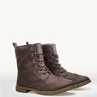 Saddle Trim Combat Boots