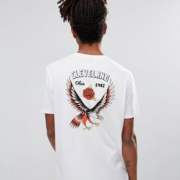 ASOS Relaxed Longline T-Shirt With Eagle Back Print And Chest Print at asos.com
