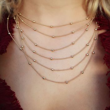Something Just Like This Necklace: Gold