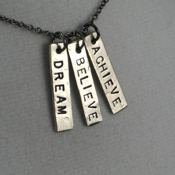 DREAM BELIEVE ACHIEVE Inspirational and by TheRunHome on Etsy
