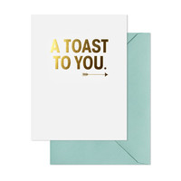 SUGAR PAPER A TOAST TO YOU CARD