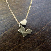 Louisiana Love - State Charm Necklace
