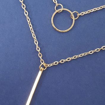 Open Circle Layering Necklace
