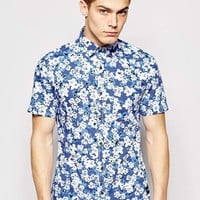 Only & Sons Short Sleeve All Ovoer Floral Print Shirt