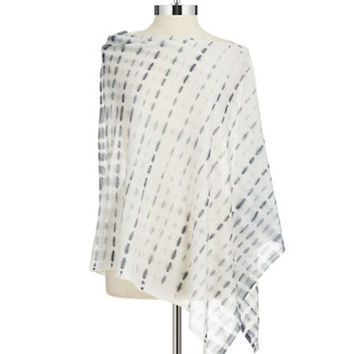Eileen Fisher Plus Plus Patterned Poncho