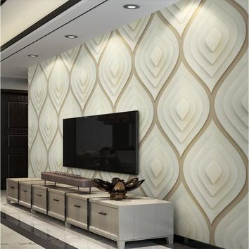 beibehang Custom 3d wallpaper geometric soft package soft 3d wall paper backdrop wall decoration painting