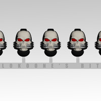 Skull Helmets x5 by Plokoone on Shapeways