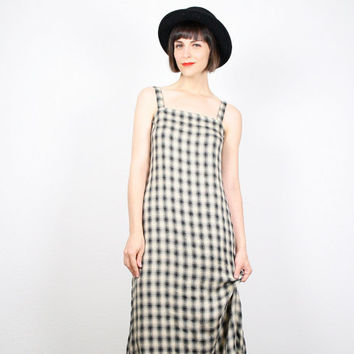 d895fec202 Vintage 90s Dress Tartan Plaid Dress Maxi Dress Button Back Jump