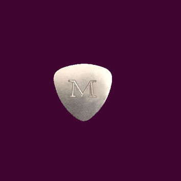 Custom Engraved Inital Guitar Pick