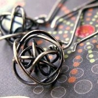 Tangled Web  Sculpted Artisan Earrings in by AUNALIArtisanMetal