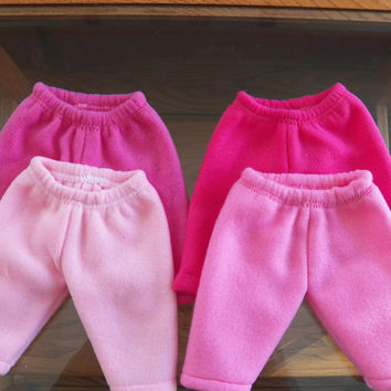 "Bitty Baby Doll Clothes Twin Boy, Girl, or Baby Doll 15"" American Girl  CHOICE OF Light Pink,  Bright Pink,  OR Yellow Polar Fleece Pants"