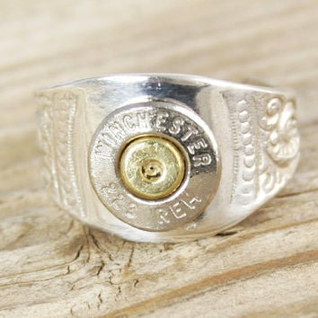 Custom Bullet .925 Sterling Silver Cigar Band WIN-#-NB-CIGAR (Ladies' Ring)