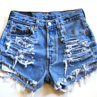 Vintage High Waisted 501 Levi's Denim Shorts