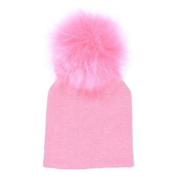 Cute Newborn Winter Warm Baby Hat Ball Pompom Beanies Kids Girl Boy Knitted Hats Cap New