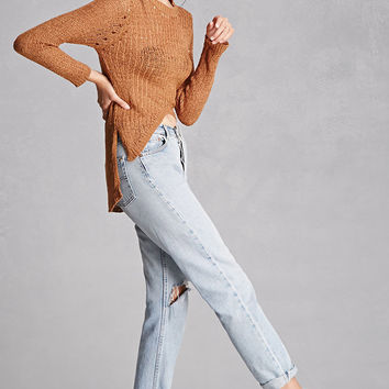 Selfie Leslie Open-Knit Sweater