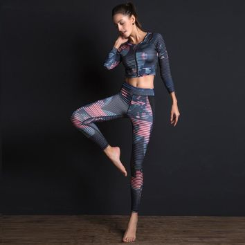 Women Yoga Set 3pcs Shirt+bra+long Pants Sports Wear for Women Gym Clothing Tight Pants Workout Clothes for Women Tracksuit