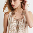 Stud Draped Chain Necklace