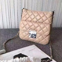 NWT Michael Kors Sloan Medium Quilted Swingpack Crossbody Bag - Oyster