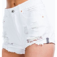 Perfectly Destroyed Denim Shorts - GoJane.com