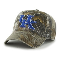 NCAA University of Kentucky Realtree Camo Embroidered Relaxed Cap by '47 Brand
