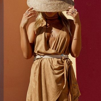 Camel Wrap Playsuit - Playsuits by Sabo Skirt