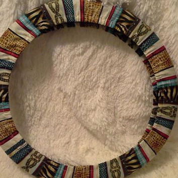 African Rhapsody * Steering Wheel Cover *  Tribal * Jungle * Chevron * Tiger * Giraffe * Plaid
