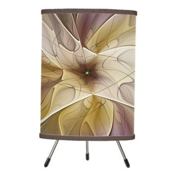 Floral Fantasy Pattern Abstract Fractal Art Tripod Lamp
