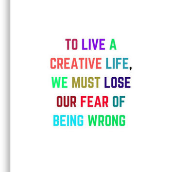 'TO LIVE A CREATIVE LIFE' Canvas Print by IdeasForArtists
