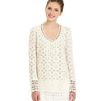 Freeway Crochet Tunic | Dillards.com