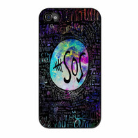 5Sos Lyrics Quote In Galaxy iPhone 4 Case