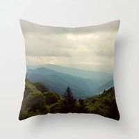 THE LIGHT THROUGH THE CLOUDS Throw Pillow by Erin Johnson