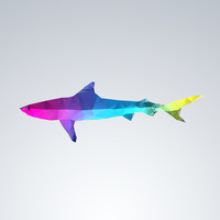Glass Animal Series - Shark Art Print by Three of the Possessed | Society6
