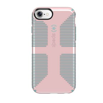 Speck Products CandyShell Grip Cell Phone Case for iPhone 7/6S/6 - Quartz Pink/River Blue