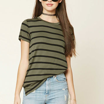 Striped Knit Tee