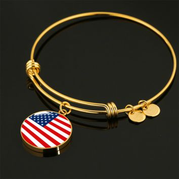American Pride - 18k Gold Finished Bangle Bracelet