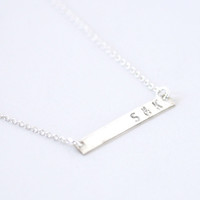 Personalized Silver Bar necklace - no. 2