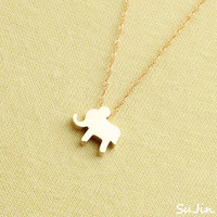 Shiny Elephant, Gold Plated, Necklace
