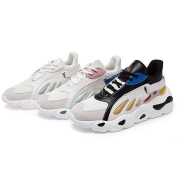 Sports Wind Single Shoes For Women Adult Wild Breathable Tennis Shoes Sneakers National Tide Butterfly Shoes Woman Tennis