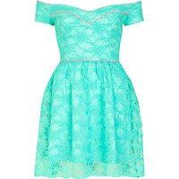 Aqua lace Lashes of London dress