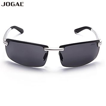 2017 NEW Fashion JOGAL Man Aluminum Magnesium Frame Sunglasses UV 400 Eyewear Accessories Summer Beach Sea Wear Sun glasses
